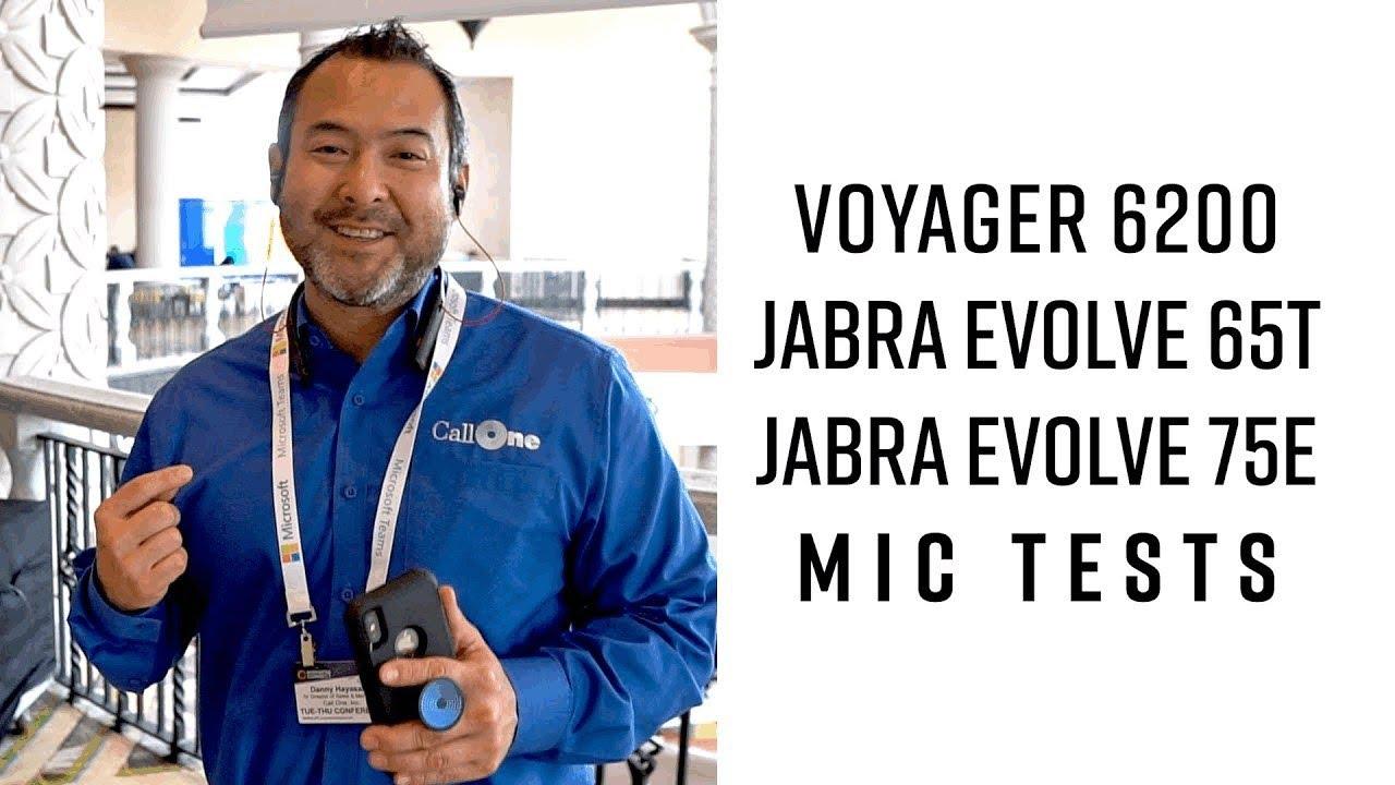 Voyager 6200 Jabra Evolve 65t 75e Mic Test Comparison Youtube