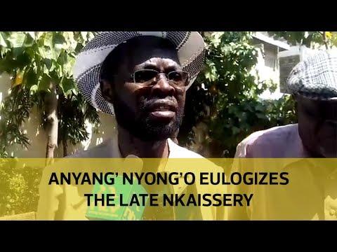 Anyang' Nyong'o eulogizes the late Nkaissery