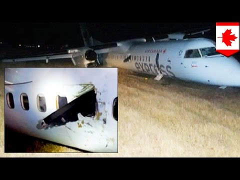 Crash landing: Propeller hits woman in head during Air Canada's Jazz Aviation emergency landing