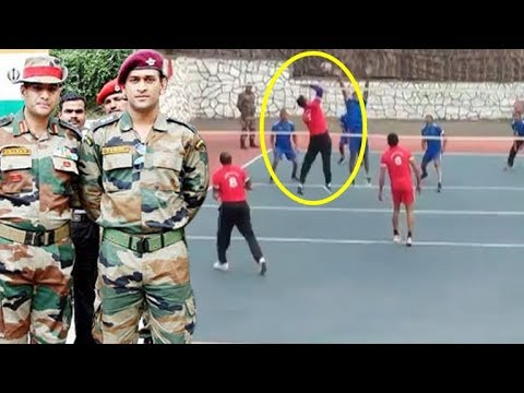 Champ MS Dhoni Playing Volley Ball With Indian Army | Icc World Cup 2019 India Lost in Semi Finals