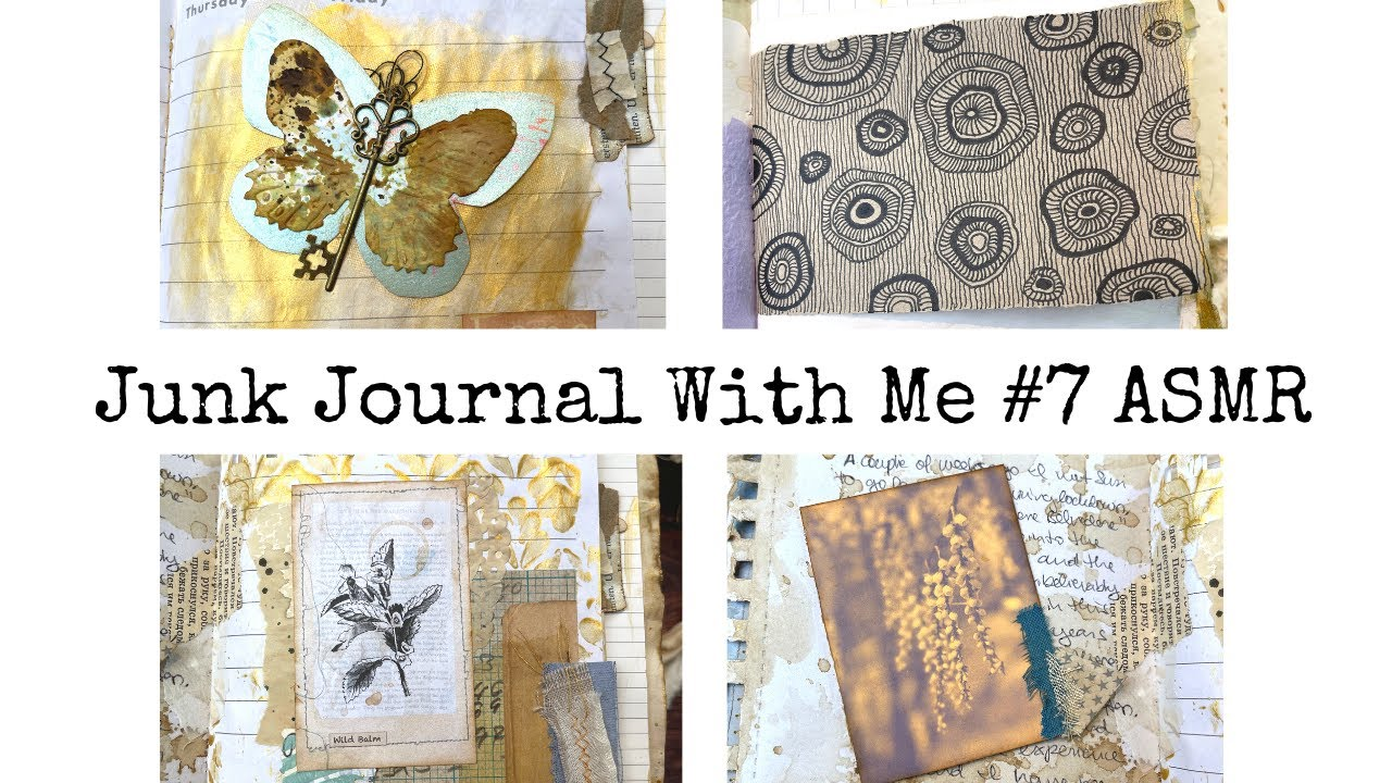 Junk Journal With Me ASMR #7 Paper Sounds/no Music/no Talking