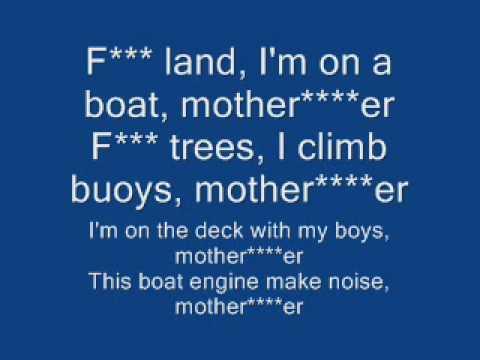 I'm on a Boat lyrics (Clean)