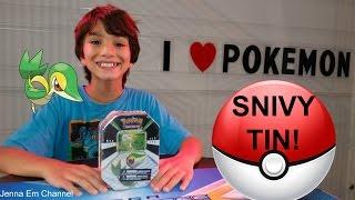 Pokemon Snivy Tin! We ❤️ Pokemon! Jenna Em