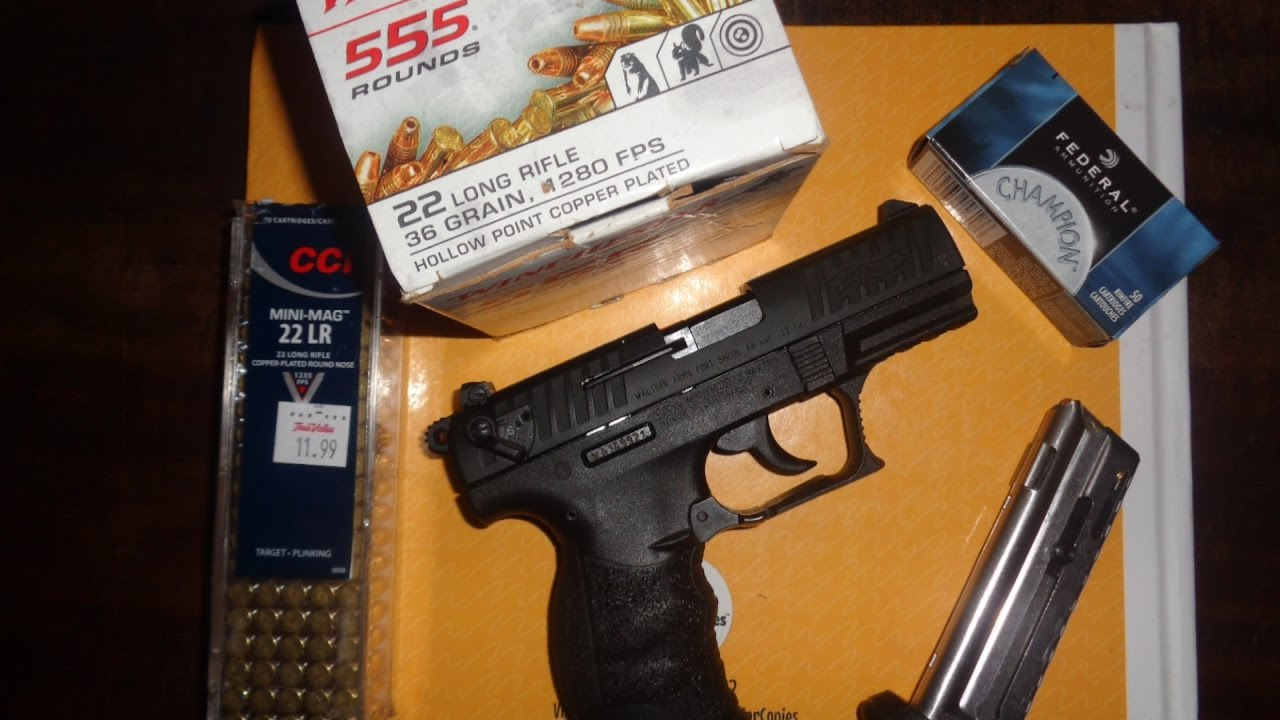 Walther P22 Ammo Test After 3500 Rounds