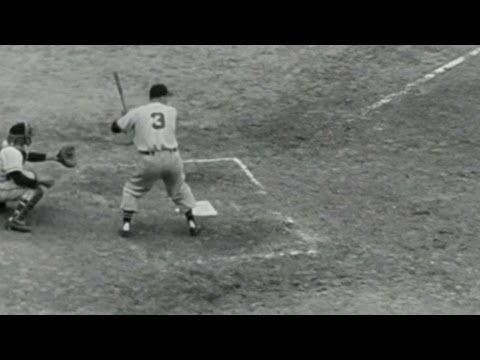 WS1948 Gm6: Eddie Robinson hits an RBI single