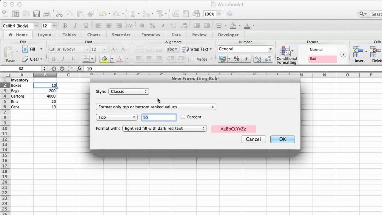 how to set a low inventory alert in excel   microsoft
