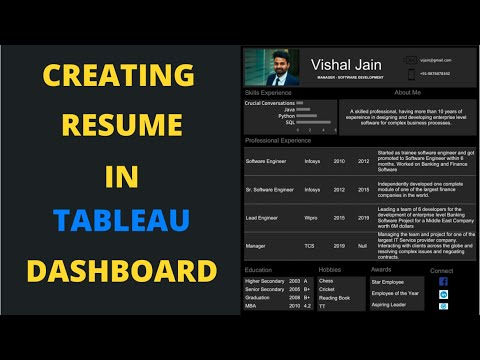 Creating Resume in Tableau | Tableau Resume Dashboard Project