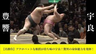 【相撲】脅威の身体能力!宇良のえび反りで大逆転シーン【宇良 vs 豊響】