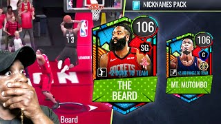 HARDEN With 115 DUNK & 3 POINT SHOT! (Nicknames) NBA Live Mobile 20 Season 4 Pack Opening Ep. 77