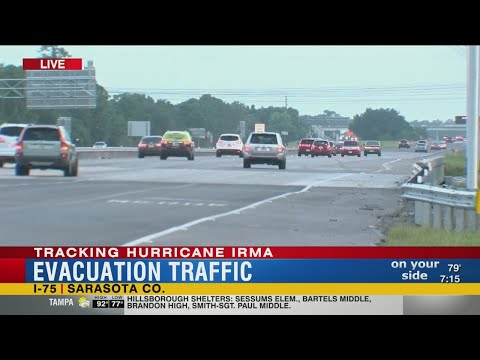 Sarasota evacuation traffic