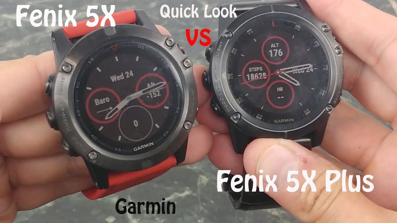 Garmin Fenix 5x Vs Garmin Fenix 5x Plus Quick Look Youtube