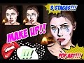 Step by step Pop Art Face makeup/face painting tutorial
