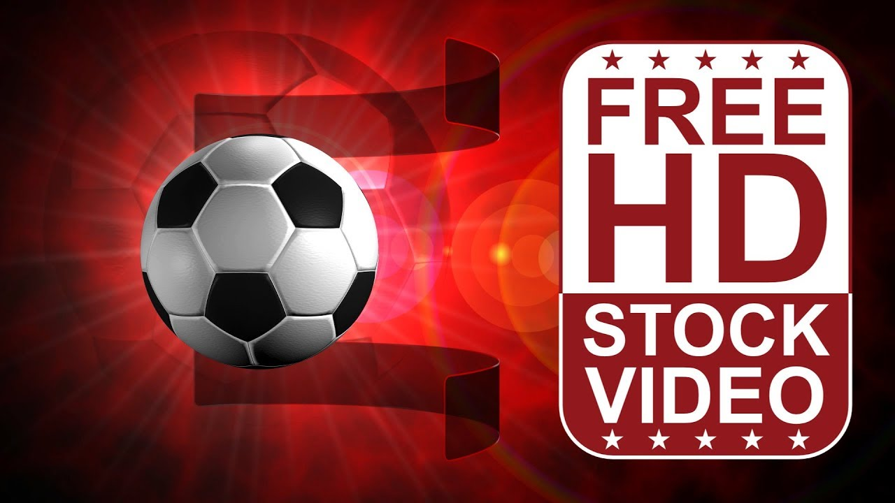 Free Stock Videos Football Themed Background With Ball