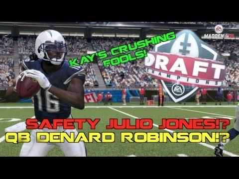 Safety Julio Jones & QB Denard Robinson!? Madden 16 Draft Champions