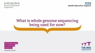 Whole Genome Sequencing: What is whole genome sequencing used for now?