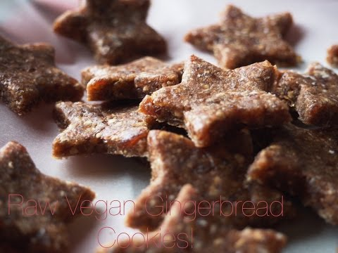 Raw Vegan Gingerbread Cookies!!