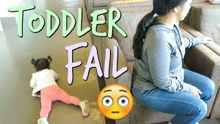 TODDLER FAIL- August 28, 2016 ItsJudysLife Vlogs