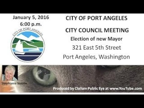 2017 01 05 Port Angeles City Council Meeting