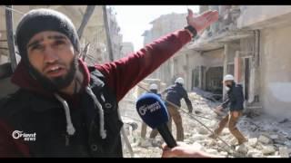 الدفاع المدني يعيد تأهيل الطرقات بعد تضررها جراء القصف