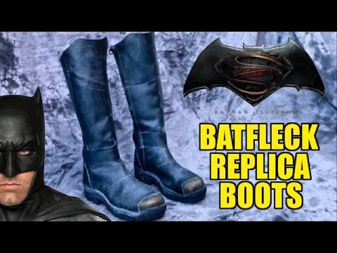 Dawn of Justice Batman Boots by John Ninco: Unboxing & Review!