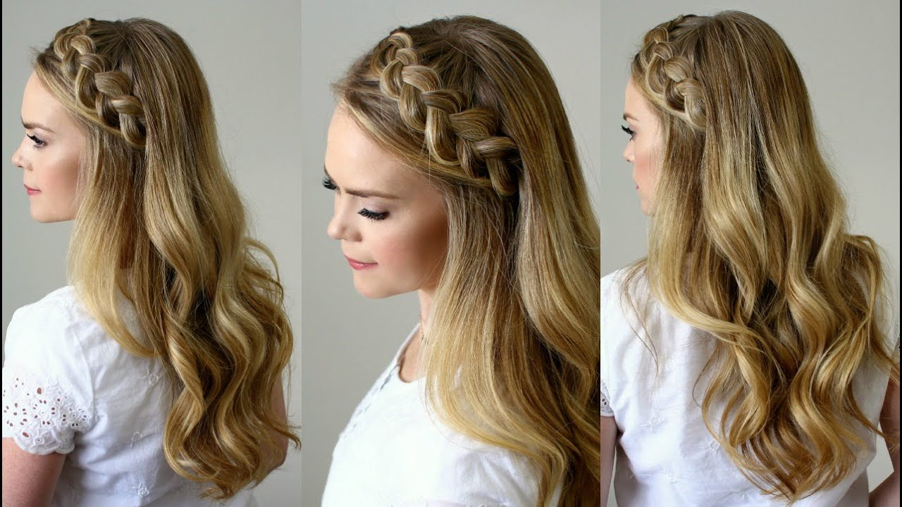 Braid Headband For Long Wavy Curly Hairstyles
