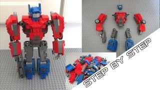 How to build Lego Optimus Prime tutorial (Fall of Cybertron)