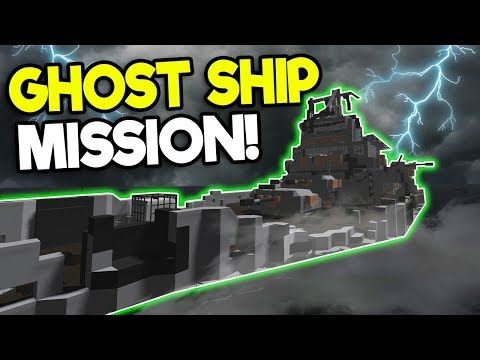 HAUNTED GHOST SHIP SURVIVAL MISSION! - Stormworks: Build and Rescue Gameplay - Sinking Ship Survival