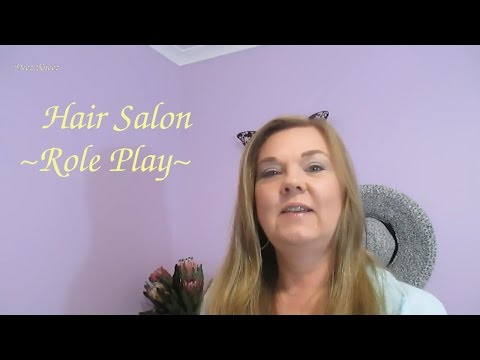 Hair Salon Wash & Cut Role Play ASMR