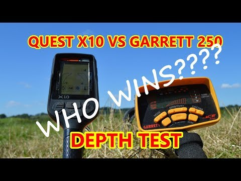 QUEST X10 V's GARRETT ACE 250, Metal Detecting Uk