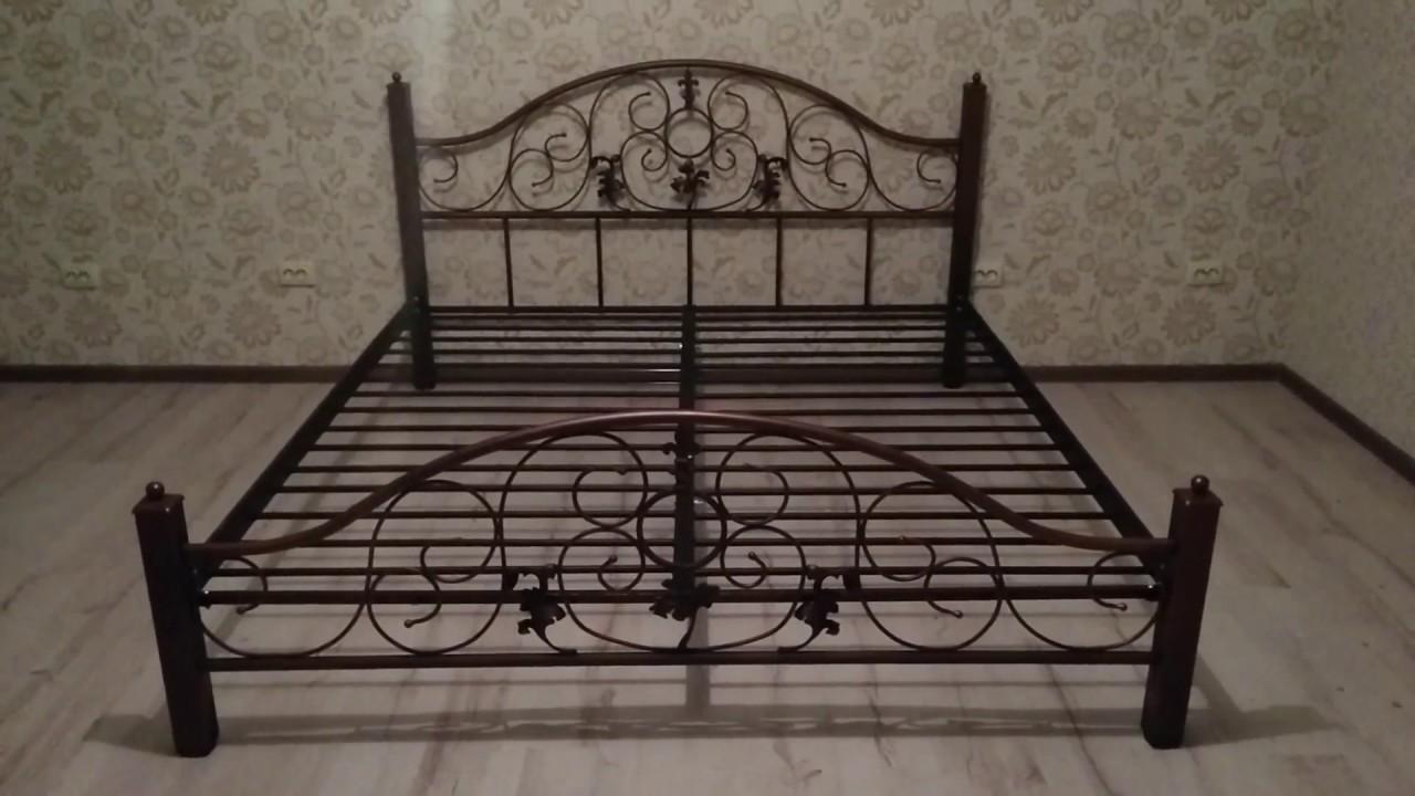 как собрать металлическую кровать от МилСон - YouTube