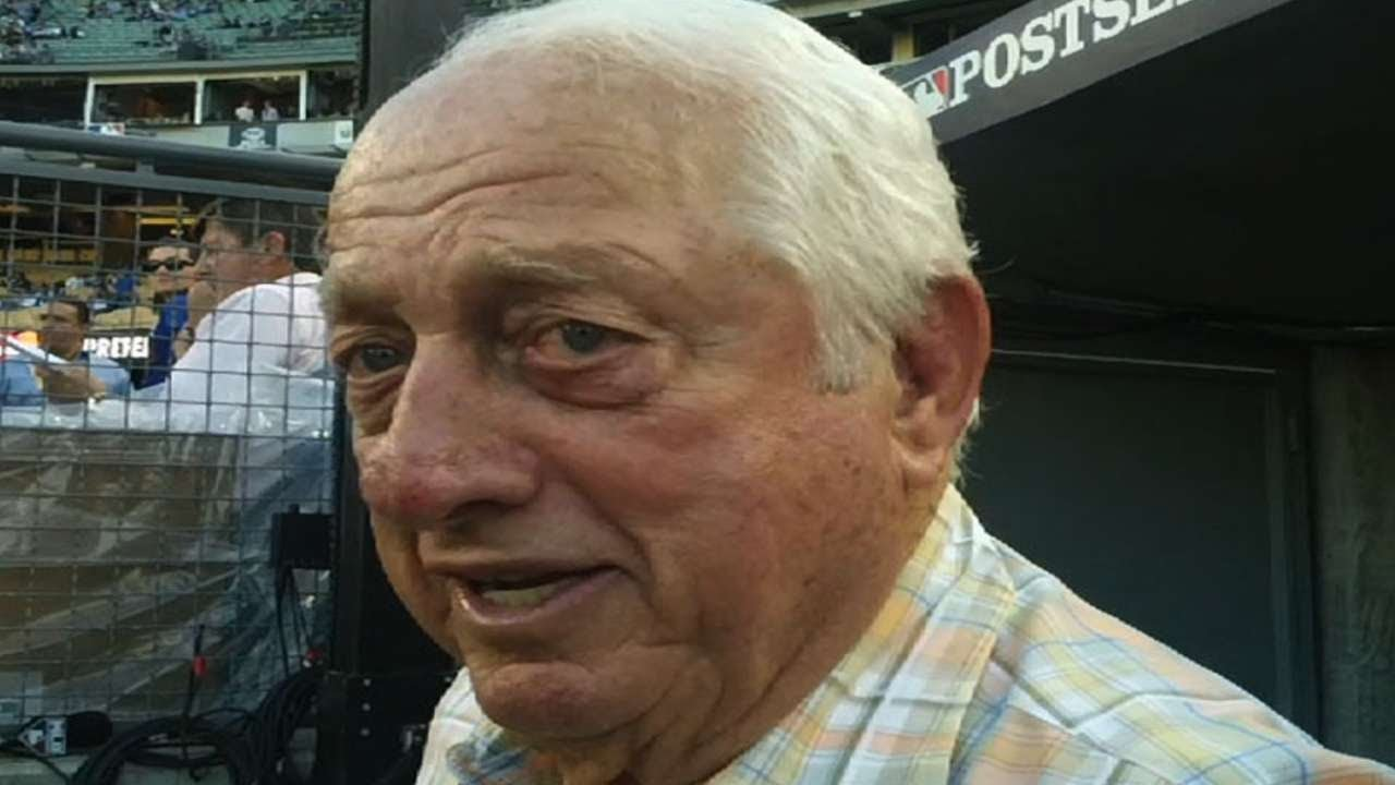 Tommy Lasorda loved the Dodgers and loved being Tommy Lasorda