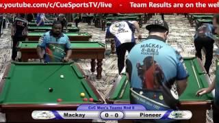CQ Cue Sports City v Country 8 Ball Mackay v Pioneer
