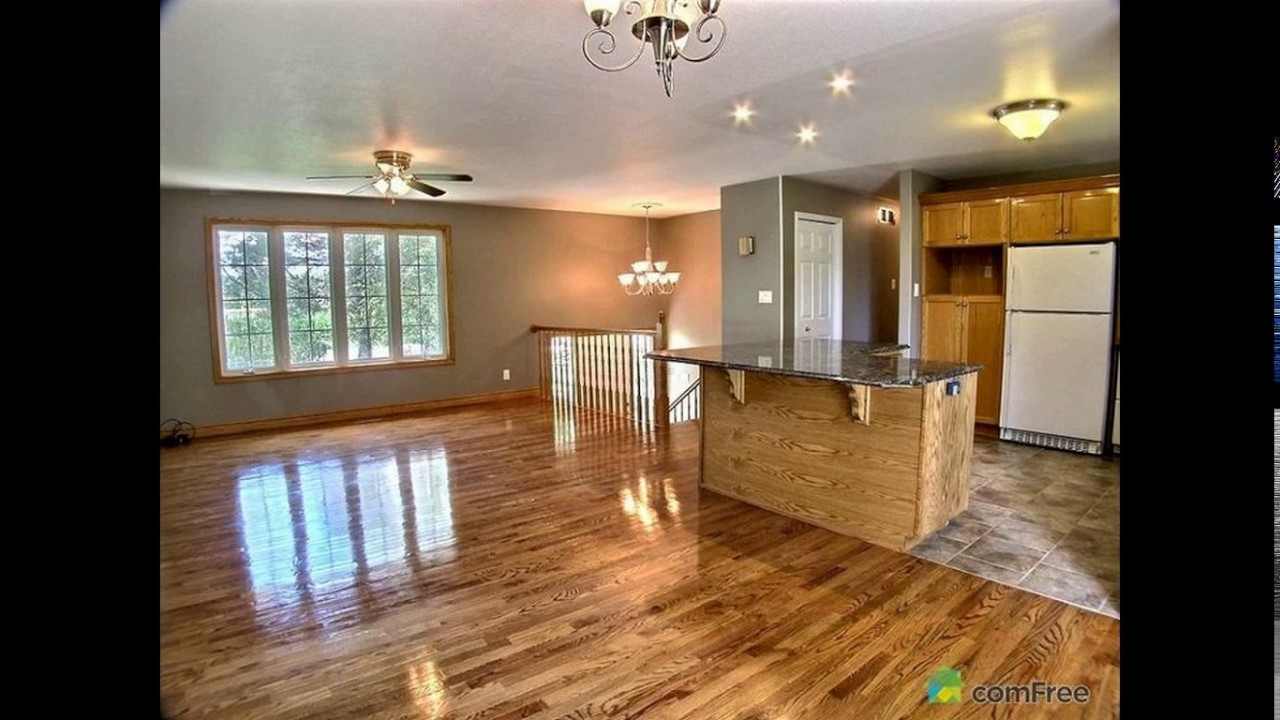 Wood And Tile Kitchen Open Floor Plan