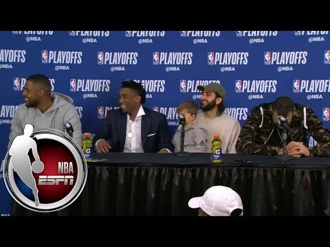 [FULL] Derrick Favors, Donovan Mitchell, Ricky Rubio and Rudy Gobert bust out laughing | NBA on ESPN