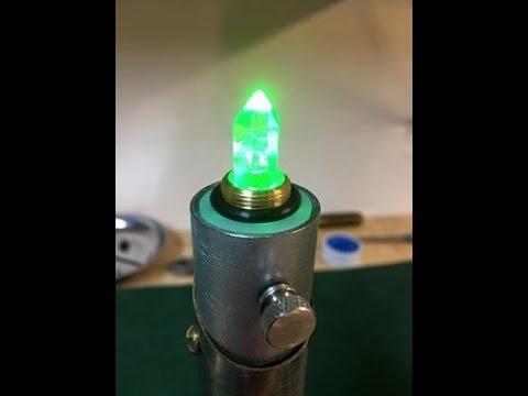 diy lightsaber crystal blade plug crystal chamber youtube