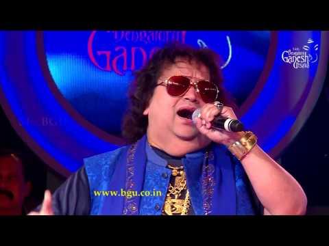 """Bappi Lahiri singing """"Pyar Manga Hai Tumhi Se"""" @ 54th Bengaluru Ganesh Utsava"""