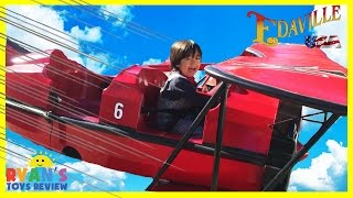 AMUSEMENT PARK FOR KIDS Family Fun outdoor Theme Park Edaville USA Ryan ToysReview