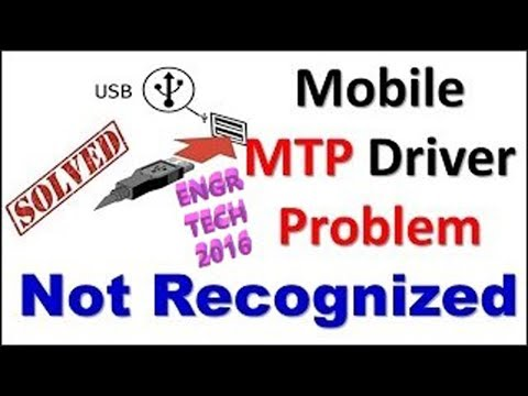 How To Fix MTP Driver Problem In Windows 7 - 2019