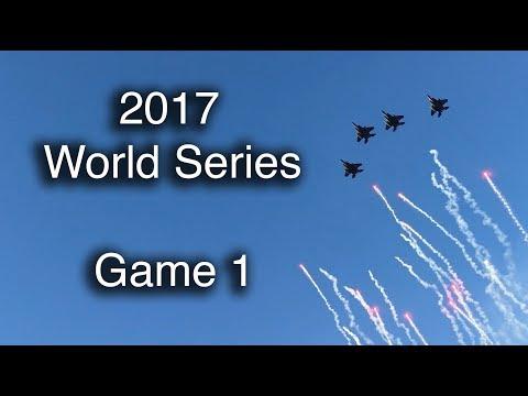 2017 World Series action -- Game 1 at Dodger Stadium