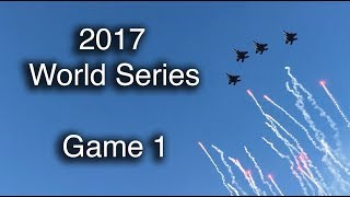 2017 World Series action -- Game 1 at Dodger Stadium