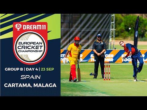 🔴 Dream11 European Cricket Championship | Group B  Day 4 | Cartama Oval Spain | T10 Live Cricket