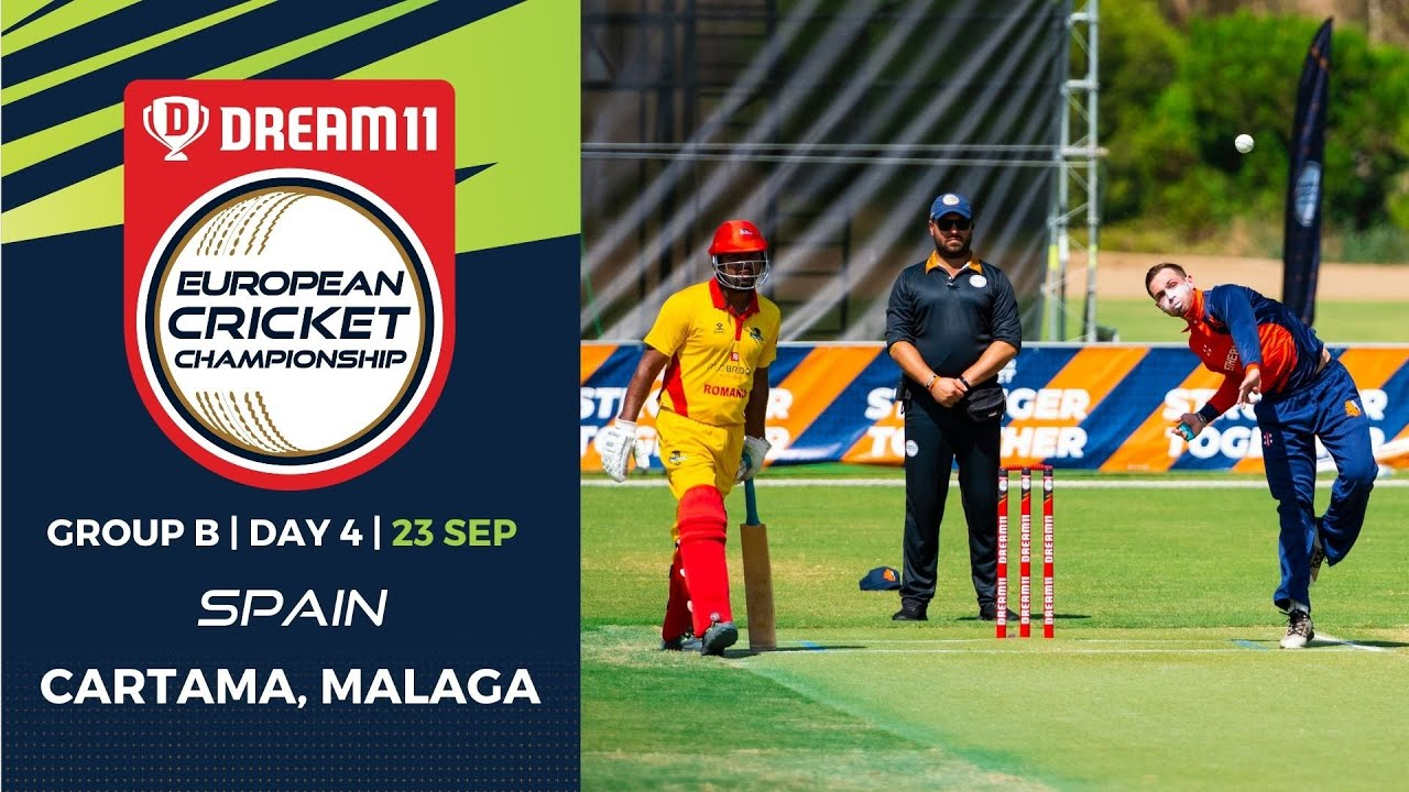 Download 🔴 Dream11 European Cricket Championship   Group B  Day 4   Cartama Oval Spain   T10 Live Cricket