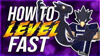 FASTEST WAY TO LEVEL UP IN HEROES ONLINE ROBLOX!