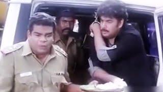Sundar make police officer foolish and get release from lock up | Cinema Junction