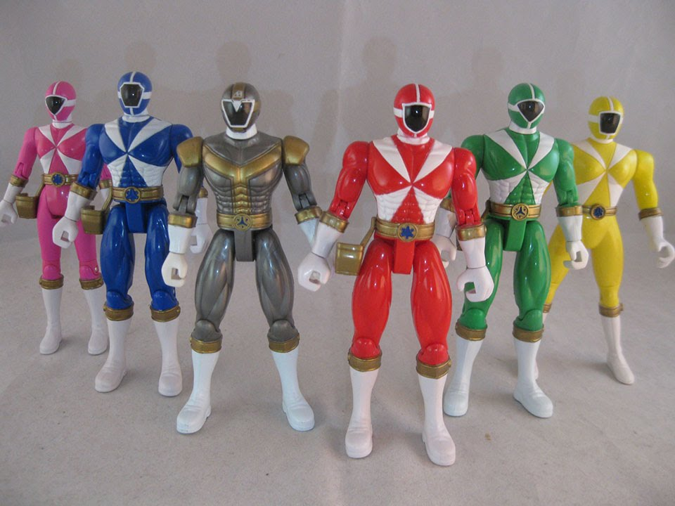 retro review power rangers lightspeed rescue 5 figures youtube