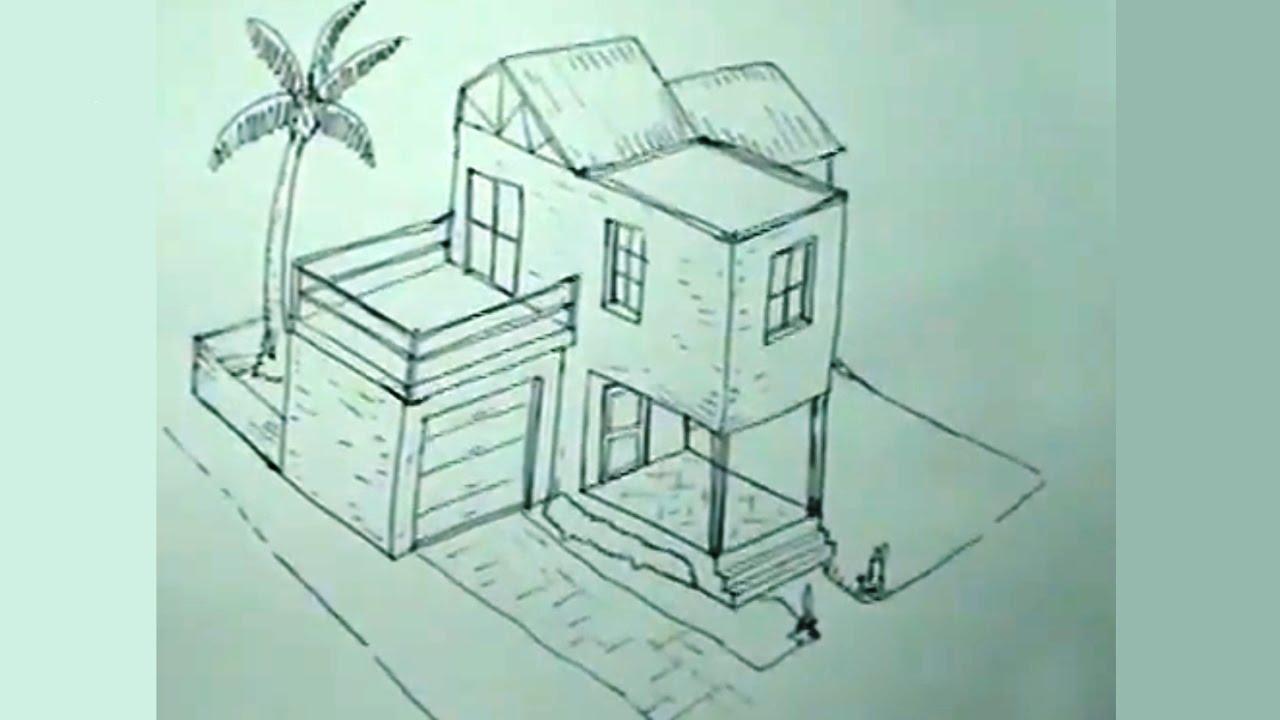 Cómo Dibujar Una Casa Paso A Paso 14 How To Draw An Easy House