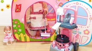メルちゃんのお家 おそうじ 掃除屋さん / Cleaning Mell-chan Doll House : Cleaning Trolley
