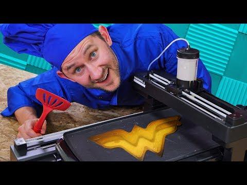 3D Printing Pancakes! | DOPE or NOPE?