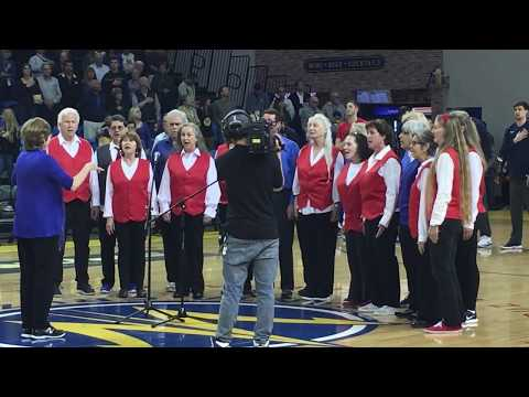 video:NextStage Productions Players Sing The Star Spangled Banner for the Santa Cruz Warriors