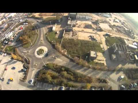 Paramotor Pilot Lands On A Old Tower Kings Lynn Norfolk
